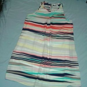 Speechless Swing Dress Stripes Size Small